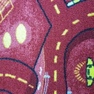 שטיח מקיר לקיר לחדרי ילדים ולגני ילדים רחוב אדום