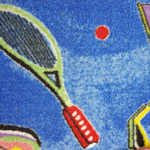 שטיח מקיר לקיר לחדרי ילדים ולגני ילדים טניס כחול