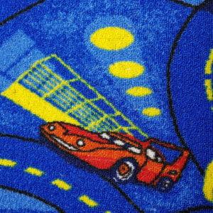 שטיח מקיר לקיר לחדרי ילדים ולגני ילדים מכוניות כחול