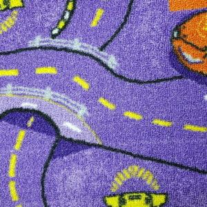 שטיח מקיר לקיר לחדרי ילדים ולגני ילדים רחובות סגול