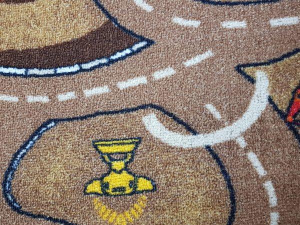 שטיח מקיר לקיר לחדרי ילדים ולגני ילדים רחובות חום בהיר