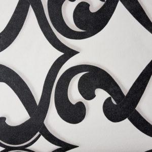 טפט וינטאז' קלאסי שחור לבן