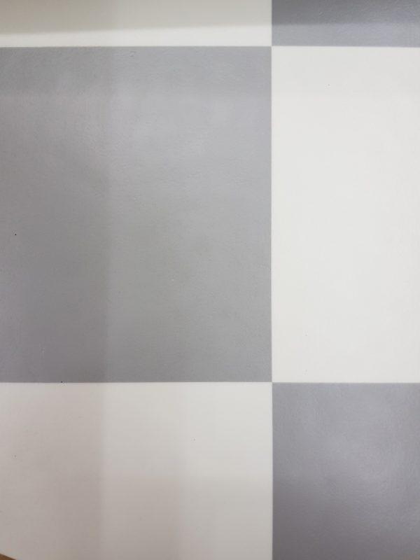 פי וי סי וינטאז' משובץ אפור לבן